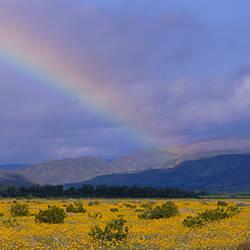 Rainbow in the sky, Anza-Borrego Desert State Park, California, USA