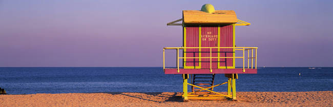 Lifeguard Hut, Miami Beach, Florida, USA