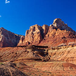 Rock formations on a landscape, Vermilion Cliffs Wilderness, Utah, USA