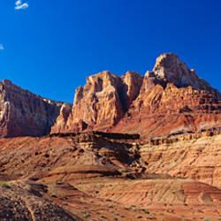 Rock formations on a landscape, Vermilion Cliffs Wilderness, Utah, USA