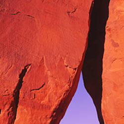 Natural arch at a desert, Teardrop Arch, Monument Valley Tribal Park, Monument Valley, Utah, USA
