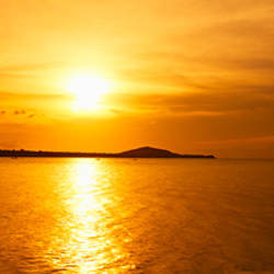 Sunset over the sea, Ko Samui, Thailand