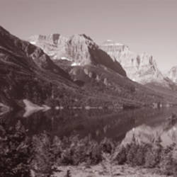 Mountains, Mountainscape, Wild Goose Island, Montana, USA