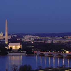 Bridge Over A River, Washington Monument, Washington DC, District Of Columbia, USA