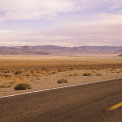 USA, Nevada, Highway passing through the desert