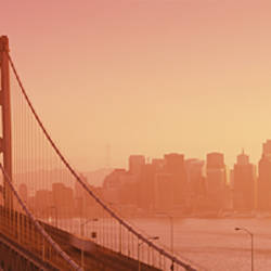 Bay Bridge, Skyline, City, San Francisco, California, USA