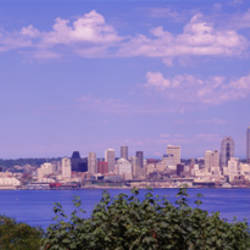 Puget Sound, City Skyline, Seattle, Washington State, USA
