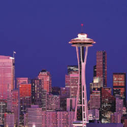 USA, Washington, Seattle, night