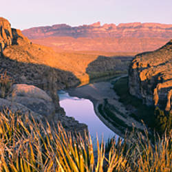 River Passing Through Mountains, Big Bend National Park, Texas, USA