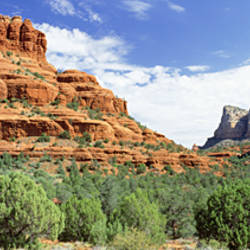 Rock formations on a landscape, Bell Rock, Sedona, Arizona, USA