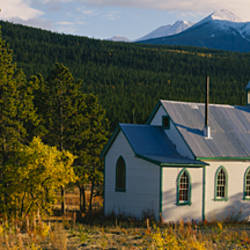 Church in a forest, Yukon, Canada