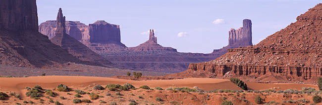 View To Northwest From 1st Marker In The Valley, Monument Valley, Arizona, USA,