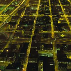 USA, Illinois, Chicago, aerial