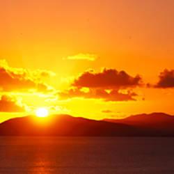 Sunset over the sea, US Virgin Islands, Virgin Gorda, British Virgin Islands
