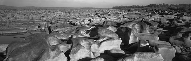 Eroded rocks in a river, Susquehanna River, Pennsylvania, USA