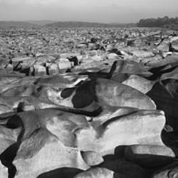 Eroded rocks in a river, Susquehanna River, Pennsylvania, USA
