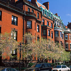 Buildings in a street, Commonwealth Avenue, Boston, Suffolk County, Massachusetts, USA