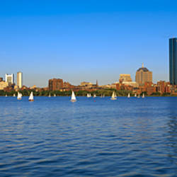 Buildings at the waterfront, Charles River, Boston, Suffolk County, Massachusetts, USA