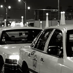 Taxi Stand, Chicago, Illinois, USA