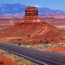 Fork In Road, Red Rocks, Red Rock Country, Utah, USA