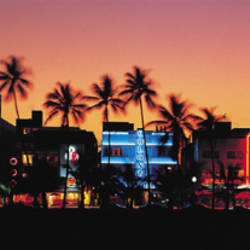 Night, Ocean Drive, Miami Beach, Florida, USA
