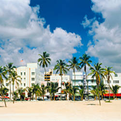 Hotels on the beach, Art Deco Hotels, Ocean Drive, Miami Beach, Florida, USA