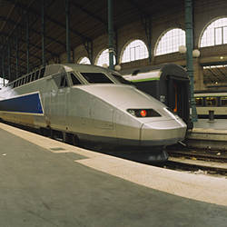 Bullet train at a railroad station, Paris, France