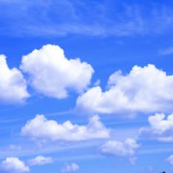 Clouds, Cumulus, Blue Sky,