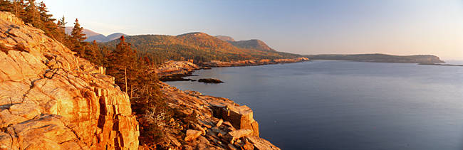 High angle view of a coastline, Mount Desert Island, Acadia National Park, Maine, USA