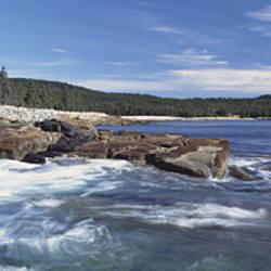 Rocks Along The Coast, Atlantic Ocean, Acadia National Park, Maine, USA