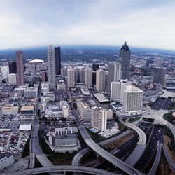 USA, Georgia, Atlanta, Aerial view of the city