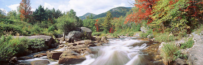 River Flowing Through Rocks, Ausable River, Wilmington, New York State, USA