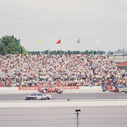 Racecars on a motor racing track, Indianapolis, Marion County, Indiana, USA