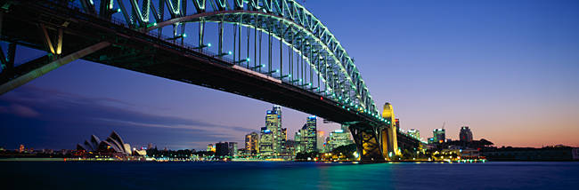 Low angle view of a bridge, Sydney Harbor Bridge, Sydney, New South Wales, Australia