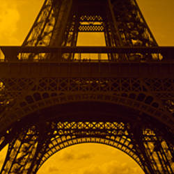 Low angle view of a tower, Eiffel Tower, Champ De Mars, Paris, Ile-De-France, France