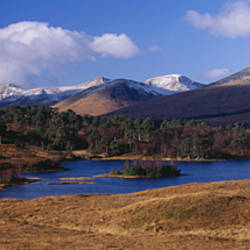 Lake on mountainside, Loch Tulla, Rannoch Moor, Argyll, Scotland