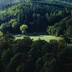 High angle view of a river flowing through a valley, Killiecrankie, Perthshire, Highlands Region, Scotland