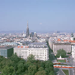 Austria, Vienna, High angle view of the city