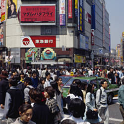 People walking on the street, Shibuya, Tokyo, Japan