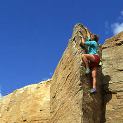 Rock Climber Goosenecks UT