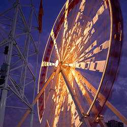 Low angle view of a ferris wheel, Navy Pier Ferris Wheel, Chicago, Cook County, Illinois, USA