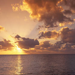Sunset, Seven Mile Beach, Cayman Islands, Caribbean Sea