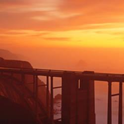 Dusk Hwy 1 w/ Bixby Bridge Big Sur CA USA