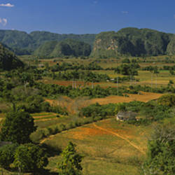 High angle view of a landscape, Valle De Vinales, Pinar Del Rio, Cuba