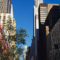 Buildings along a road, Chrysler Building, Manhattan, New York City, New York State, USA