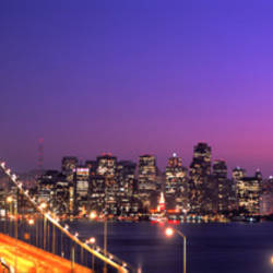 USA, California, San Francisco, Bay Bridge, night