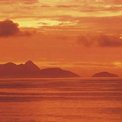 Brazil, Atlantic, sunset
