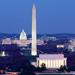 High angle view of a city, Washington DC, USA