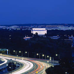 Traffic on the road, Washington Monument, Washington DC, USA