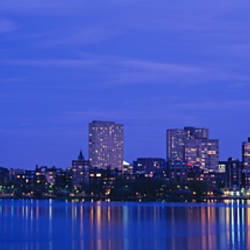 Night, Skyline, Back Bay, Boston, Massachusetts, USA
